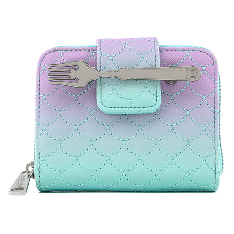 Disney The Little Mermaid Ombre Zip Around Wallet