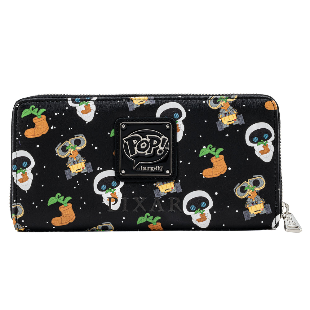Funko Pop! by Loungefly Pixar Wall-E Zip Around Wallet Back View-zoom
