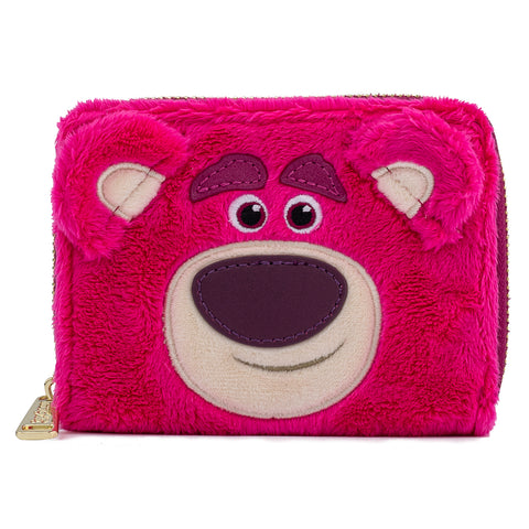 Pixar Lotso Cosplay Plush Zip Around Wallet Front View