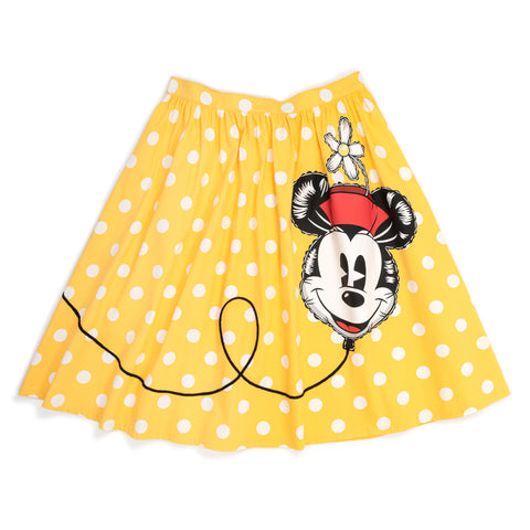 "!Disney Stitch Shoppe Minnie Mouse Balloon Dot ""Sandy"" Skirt"