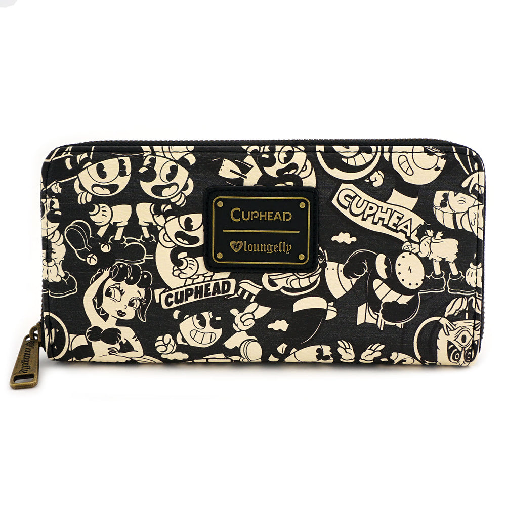 Loungefly x Cuphead Black & White Wallet-zoom