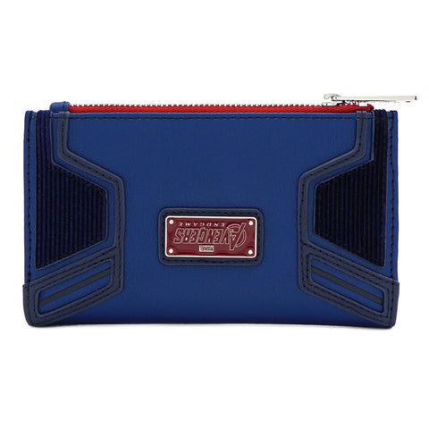 LOUNGEFLY X MARVEL CAPTAIN AMERICA A LOGO FLAP WALLET