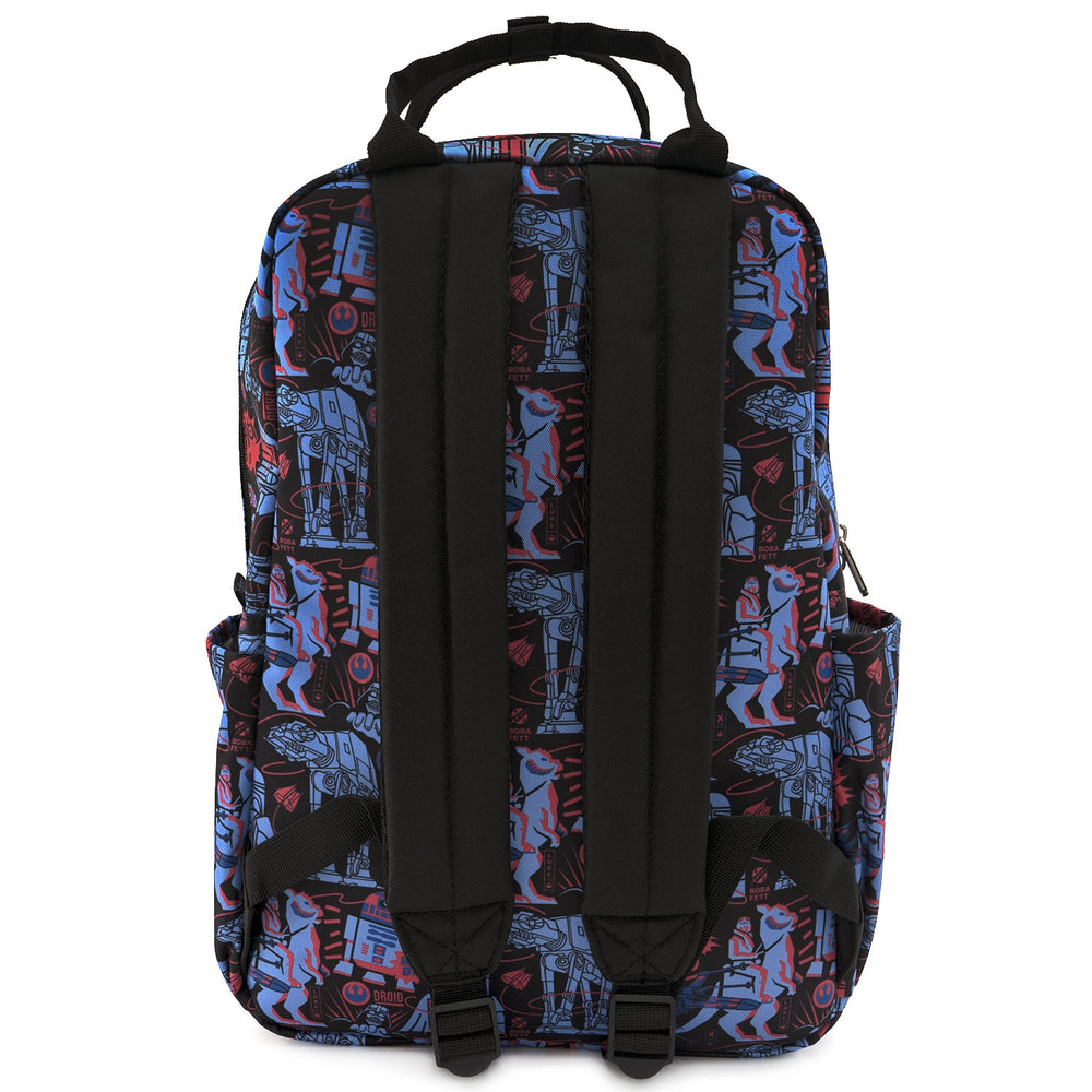 LOUNGEFLY X STAR WARS EMPIRE STRIKES BACK 40TH ANNIVERSARY AOP SQUARE NYLON BACKPACK-zoom