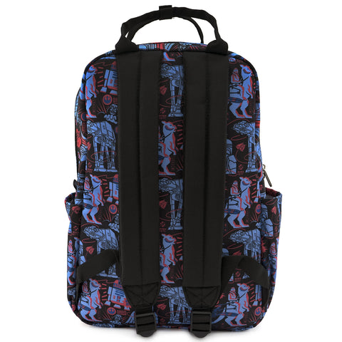 LOUNGEFLY X STAR WARS EMPIRE STRIKES BACK 40TH ANNIVERSARY AOP SQUARE NYLON BACKPACK