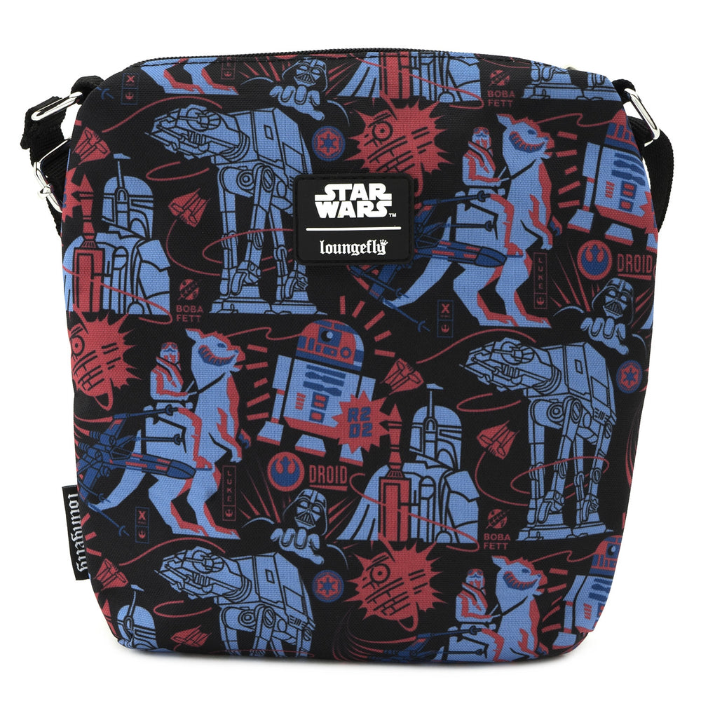 LOUNGEFLY X STAR WARS EMPIRE STRIKES BACK 40TH ANNIVERSARY PASSPORT BAG-zoom