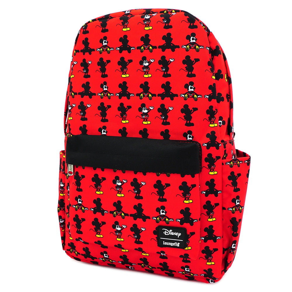 LOUNGEFLY X DISNEY MICKEY MOUSE PARTS AOP NYLON BACKPACK-zoom