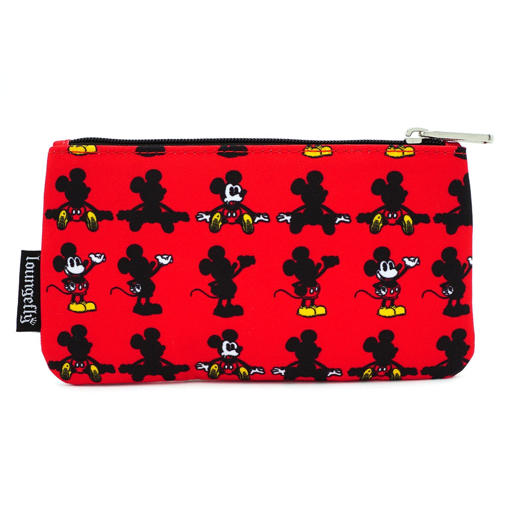 LOUNGEFLY X DISNEY MICKEY MOUSE PARTS AOP NYLON POUCH-zoom