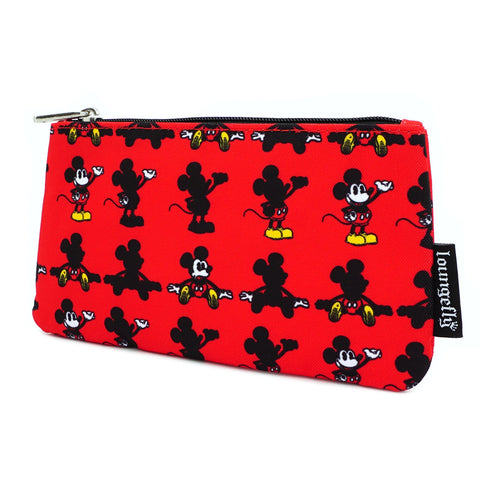 LOUNGEFLY X DISNEY MICKEY MOUSE PARTS AOP NYLON POUCH