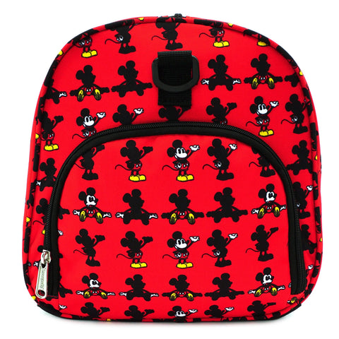 LOUNGEFLY X DISNEY MICKEY MOUSE PARTS AOP NYLON DUFFLE BAG