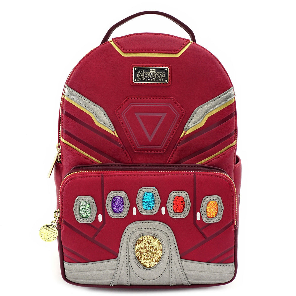 LOUNGEFLY X MARVEL IRON MAN IRON GAUNTLET MINI BACKPACK-zoom