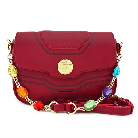 LOUNGEFLY X MARVEL IRON MAN IRON GAUNTLET CROSSBODY JEWEL BAG