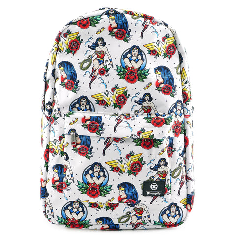 Loungefly x DC Comics Wonder Woman Tattoo Flash Print Backpack