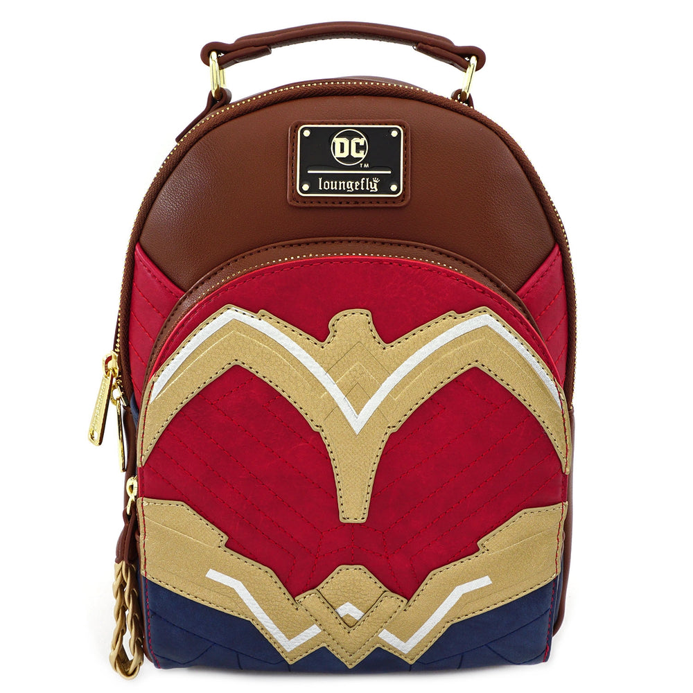 LOUNGEFLY X DC COMICS WONDER WOMAN COSPLAY MINI BACKPACK-zoom