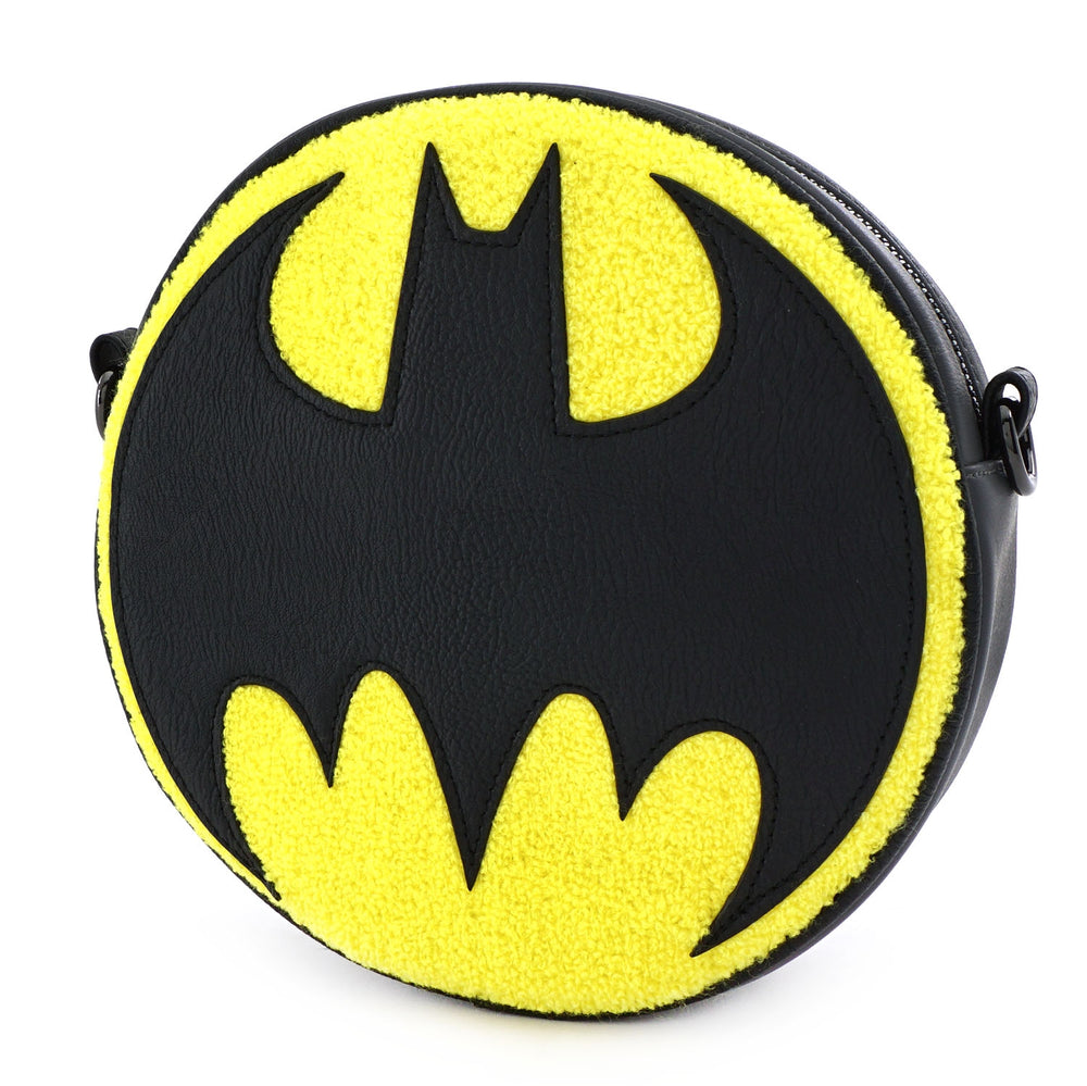 DC Comics Batman 80th Anniversary Sling Bag Chenille Canteen Bag-zoom