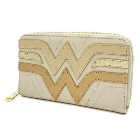LOUNGEFLY X DC COMICS WONDER WOMAN QUILTED ZIP AROUND WALLET