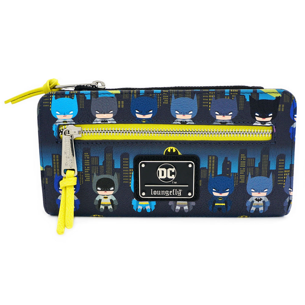 LOUNGEFLY X DC COMICS BATMAN 80TH ANNIVERSARY CHIBI AOP WALLET-zoom
