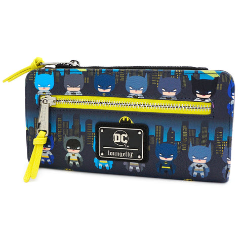 LOUNGEFLY X DC COMICS BATMAN 80TH ANNIVERSARY CHIBI AOP WALLET