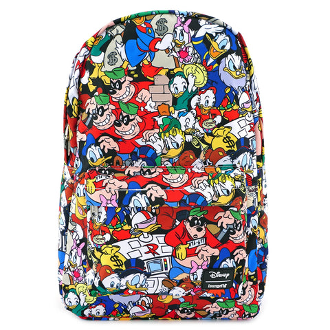 LOUNGEFLY X DISNEY DUCKTALES AOP NYLON BACKPACK