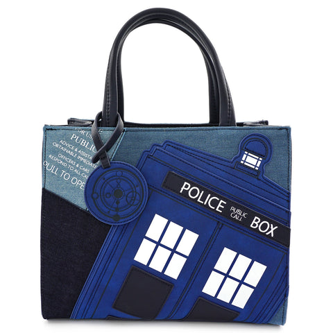Loungefly x Dr. Who Tardis Denim Tote Bag