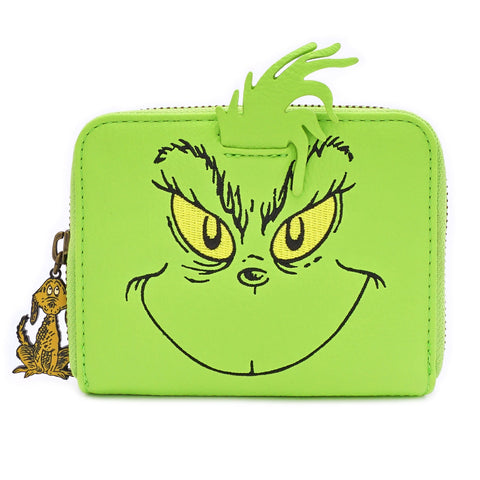 LOUNGEFLY X DR. SEUSS THE GRINCH COSPLAY ZIP AROUND WALLET