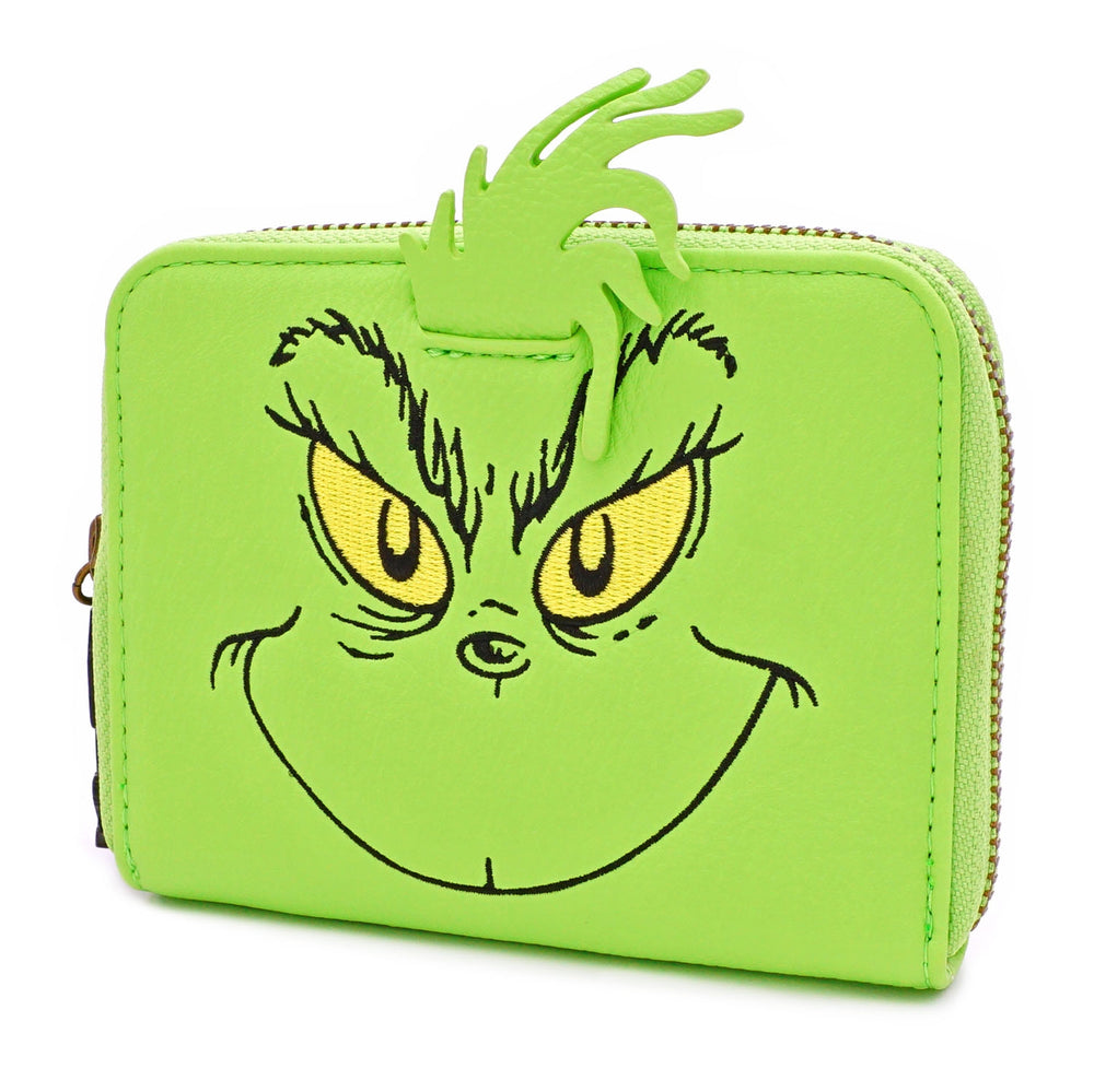 LOUNGEFLY X DR. SEUSS THE GRINCH COSPLAY ZIP AROUND WALLET-zoom