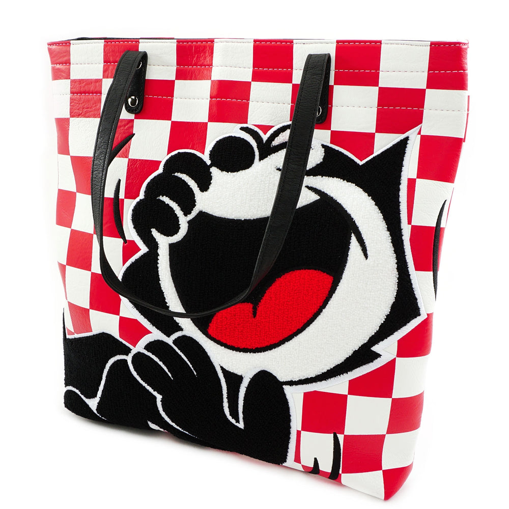 LOUNGEFLY X FELIX THE CAT 100TH ANNIVERSARY CHENILLE PRINT TOTE BAG-zoom