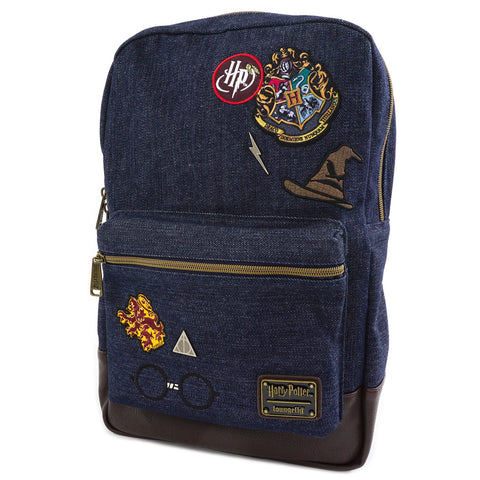 Loungefly x Harry Potter Hogwarts Denim Backpack