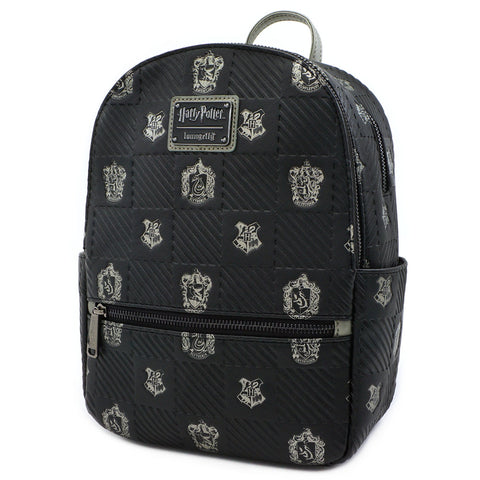 Loungefly x Harry Potter Hogwarts Crest Mini Faux Leather Backpack