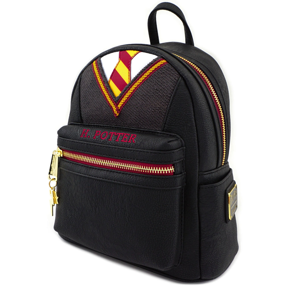 LOUNGEFLY X HARRY POTTER COSPLAY SUIT AND TIE MINI PU BACKPACK-zoom