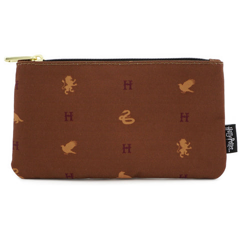 Loungefly x  Harry Potter Hogwarts Houses Nylon Pouch