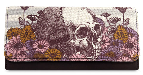 Loungefly Skull With Flowers Wallet
