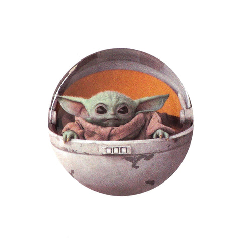 "LOUNGEFLY X STAR WARS THE MANDALORIAN CHILD IN CRADLE 1.25"" BUTTON"