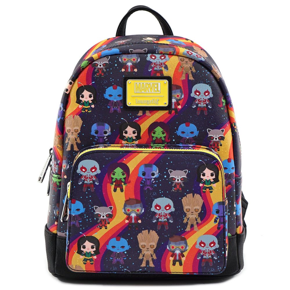 LOUNGEFLY X MARVEL GUARDIANS OF THE GALAXY CHIBI LINE-UP MINI BACKPACK-zoom