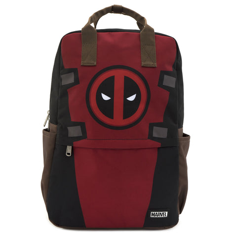 LOUNGEFLY X MARVEL DEADPOOL COSPLAY SQUARE NYLON BACKPACK