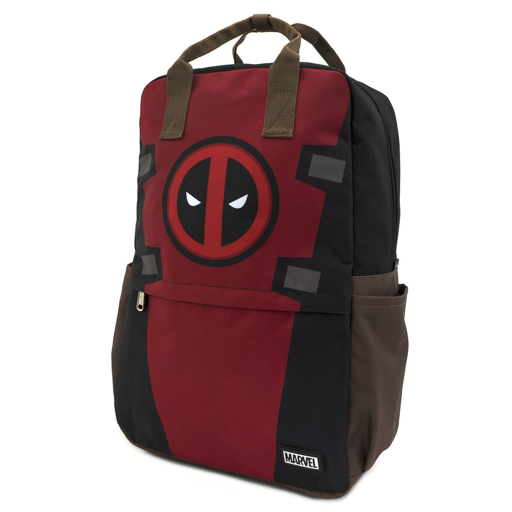 LOUNGEFLY X MARVEL DEADPOOL COSPLAY SQUARE NYLON BACKPACK-zoom