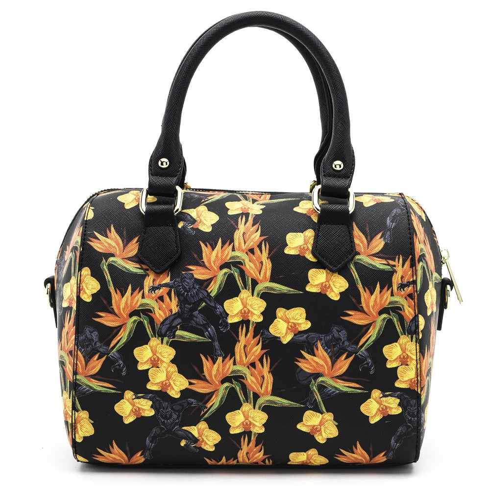 Loungefly x Marvel Black Panther Floral Print Duffle Bag-zoom