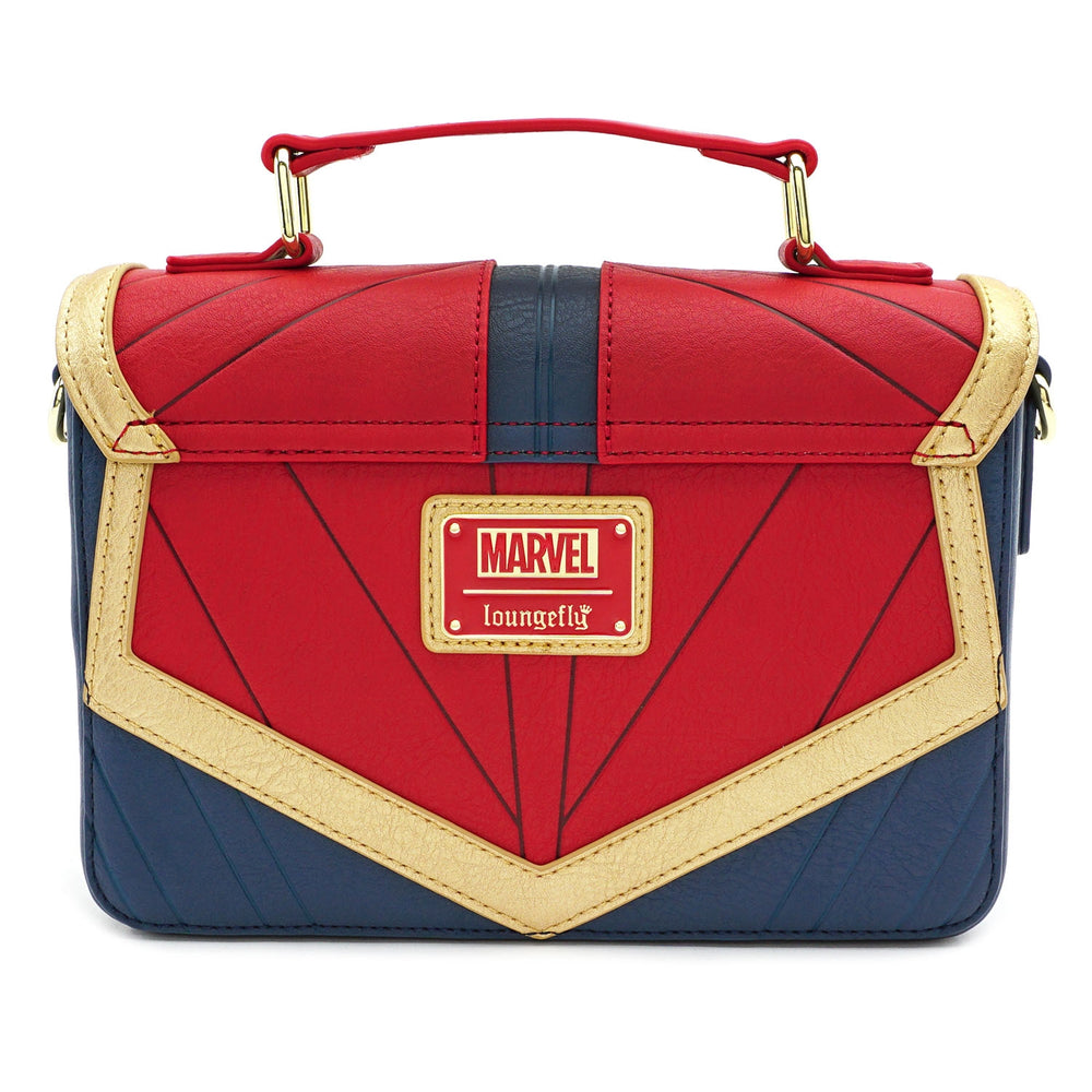 LOUNGEFLY X MARVEL CAPTAIN MARVEL COSPLAY CROSS BODY BAG-zoom