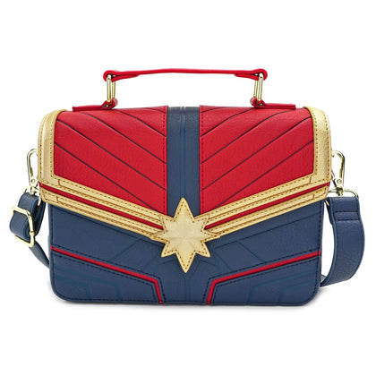 LOUNGEFLY X MARVEL CAPTAIN MARVEL COSPLAY CROSS BODY BAG