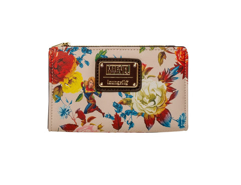Loungefly x Captain Marvel Floral Print Wallet