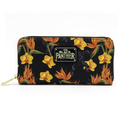 Loungefly x Marvel Black Panther Floral Print Wallet