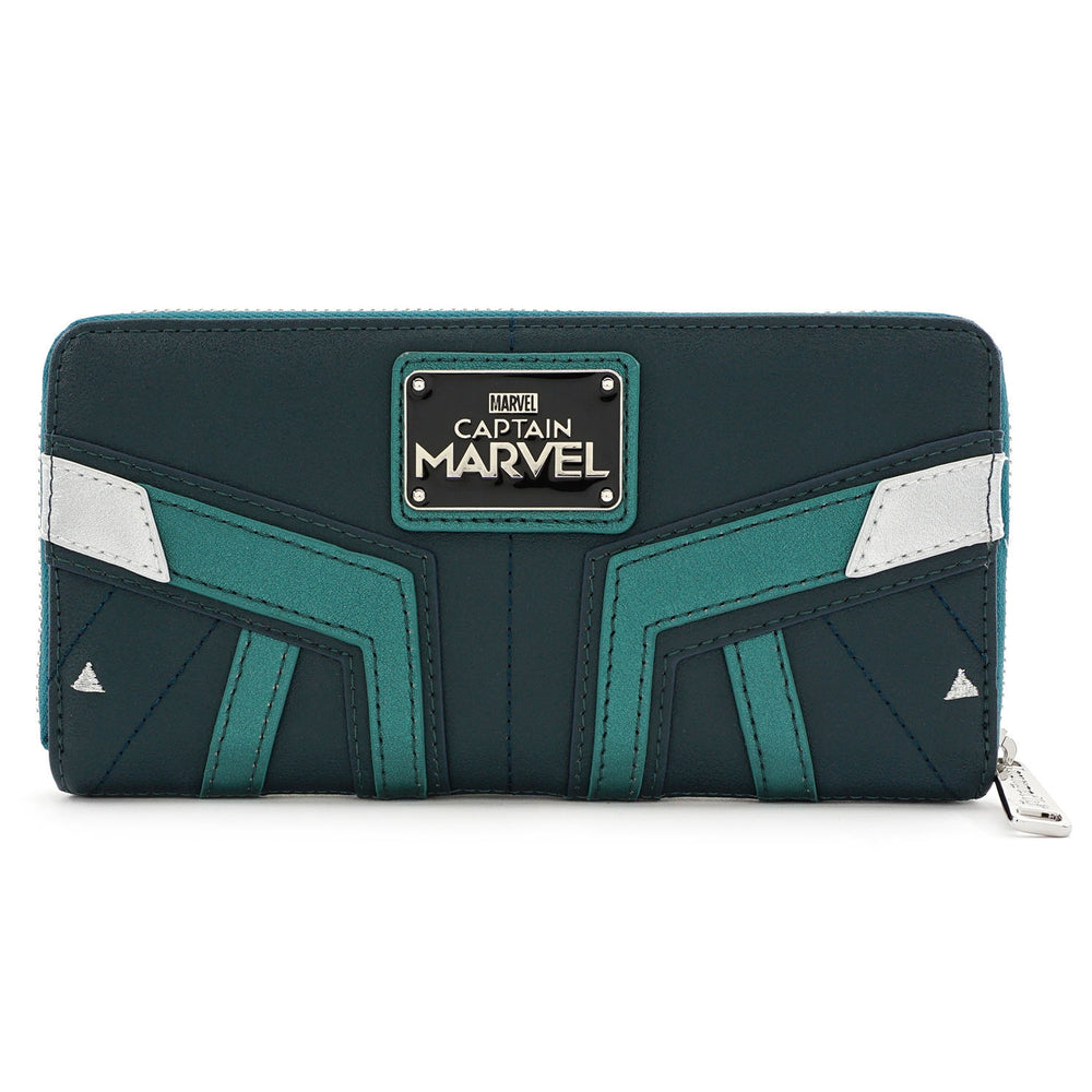 Loungefly x Marvel Captain Marvel Green Suit Wallet-zoom