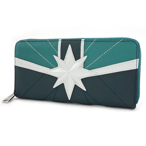 Loungefly x Marvel Captain Marvel Green Suit Wallet