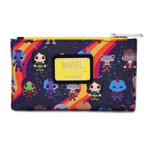 LOUNGEFLY X MARVEL GUARDIANS OF THE GALAXY CHIBI LINE-UP WALLET