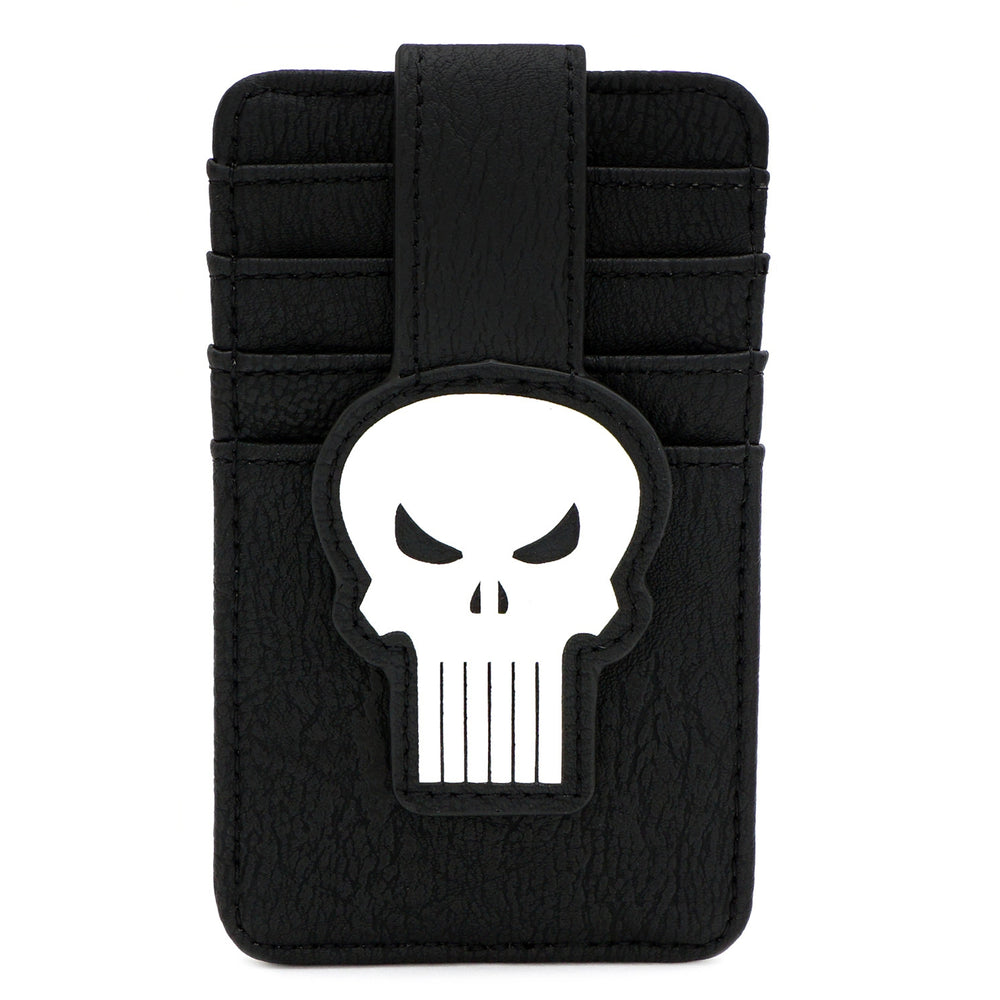 LOUNGEFLY X MARVEL PUNISHER SKULL CARD HOLDER-zoom
