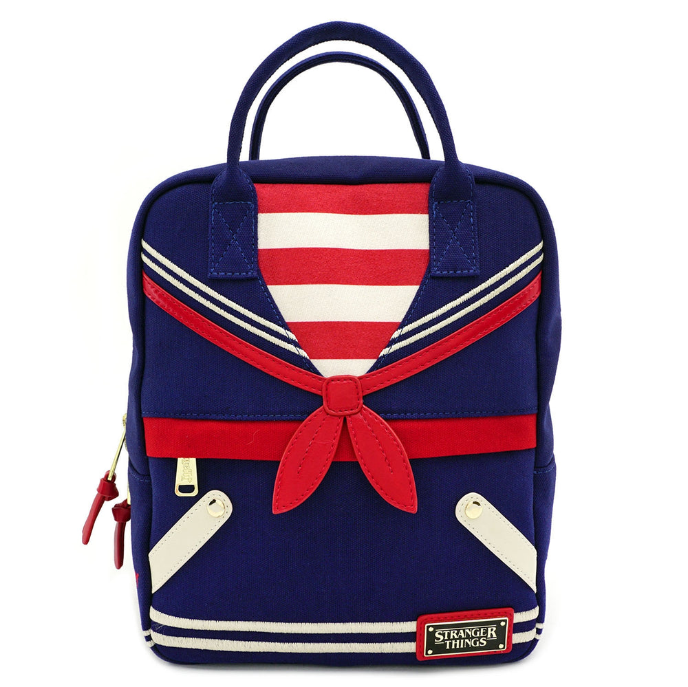 LOUNGEFLY X STRANGER THINGS SCOOPS AHOY CANVAS BACKPACK-zoom