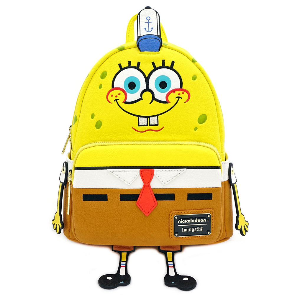 LOUNGEFLY X NICKELODEON SPONGEBOB 20TH ANNIVERSARY COSPLAY MINI BACKPACK-zoom