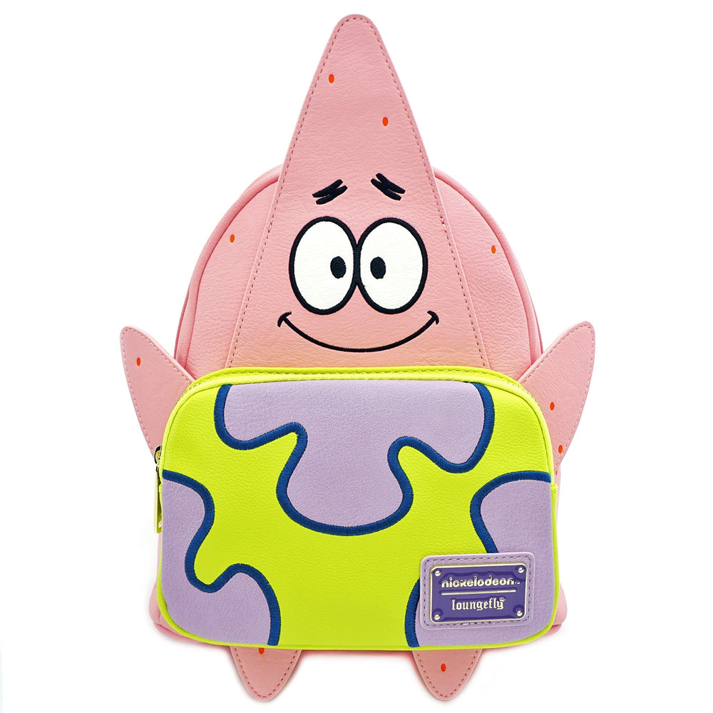 LOUNGEFLY X NICKELODEON PATRICK 20TH ANNIVERSARY COSPLAY MINI BACKPACK-zoom
