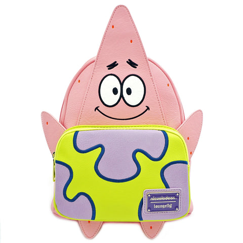 LOUNGEFLY X NICKELODEON PATRICK 20TH ANNIVERSARY COSPLAY MINI BACKPACK