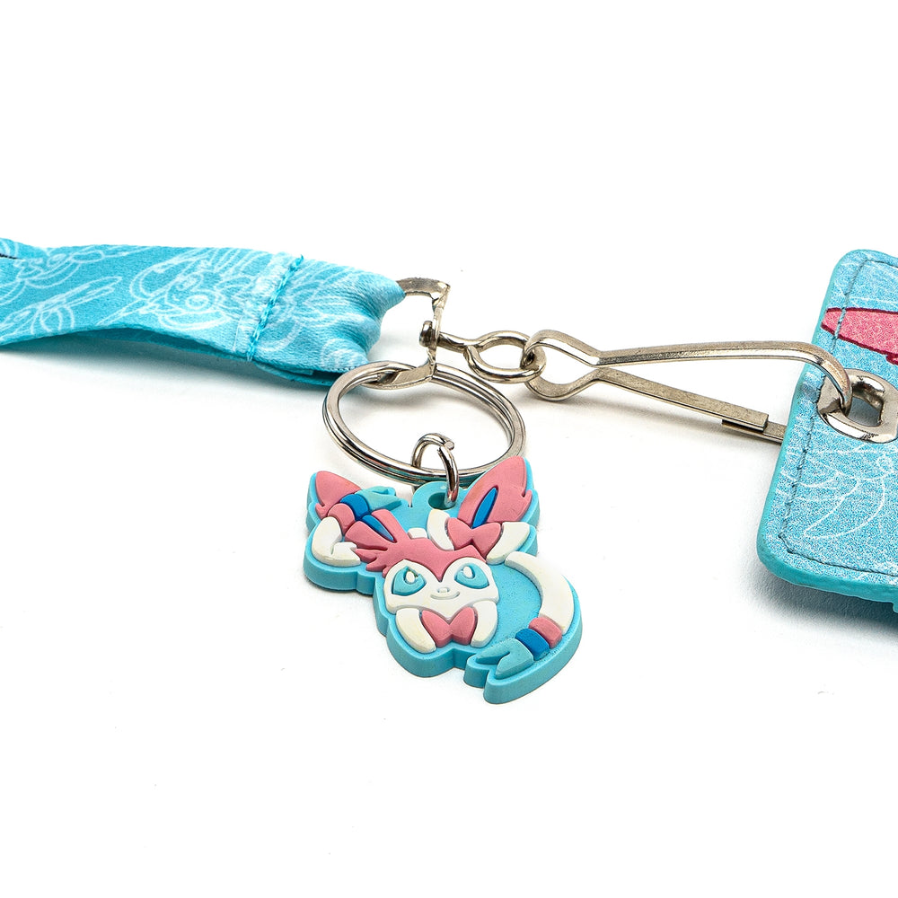 LOUNGEFLY X POKEMON SYLVEON LANYARD CARD HOLDER-zoom