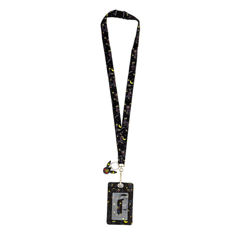 LOUNGEFLY X POKEMON UMBREON LANYARD WITH CARDHOLDER
